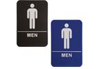 """ADA105_205 - Men ADA Compliant Sign, 6"""" x 9"""""""